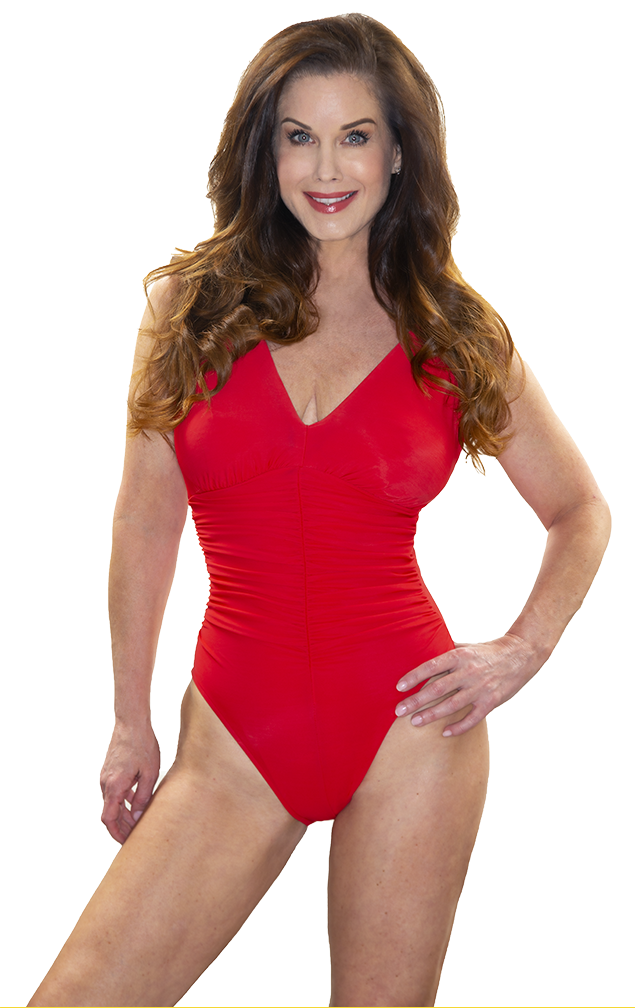 Red Swimsuit Carrie Stevens